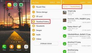 find android download folder